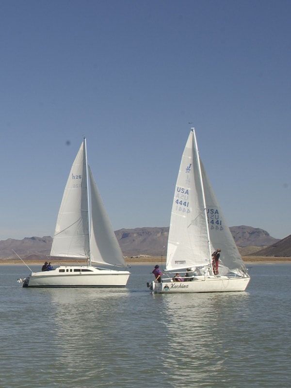 sailboats on Elephant Butte Lake