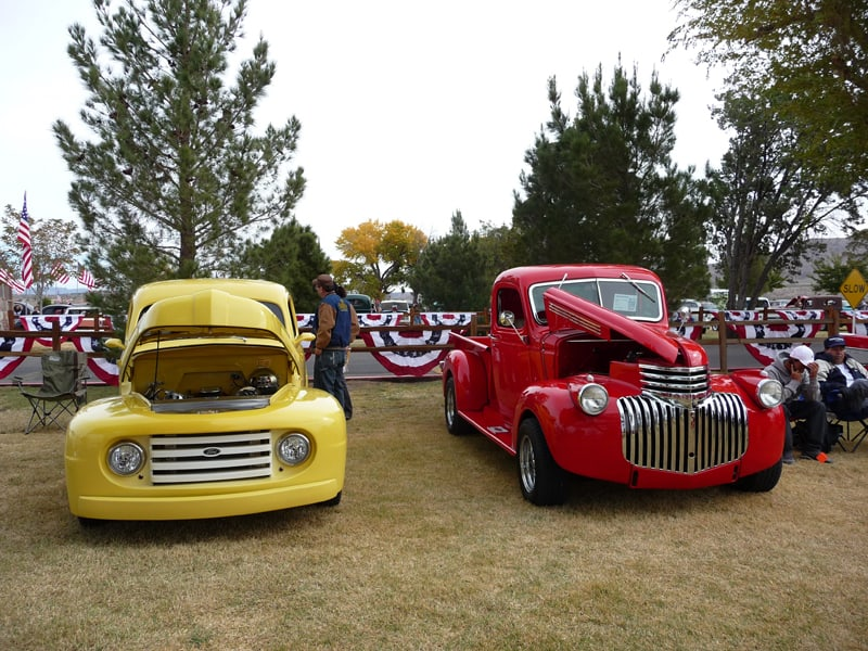 cars at the Veterans Day Car Show in Truth or Consequences