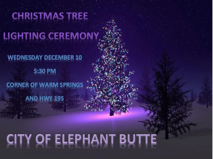 Elephant Butte's Christmas Tree Lighting