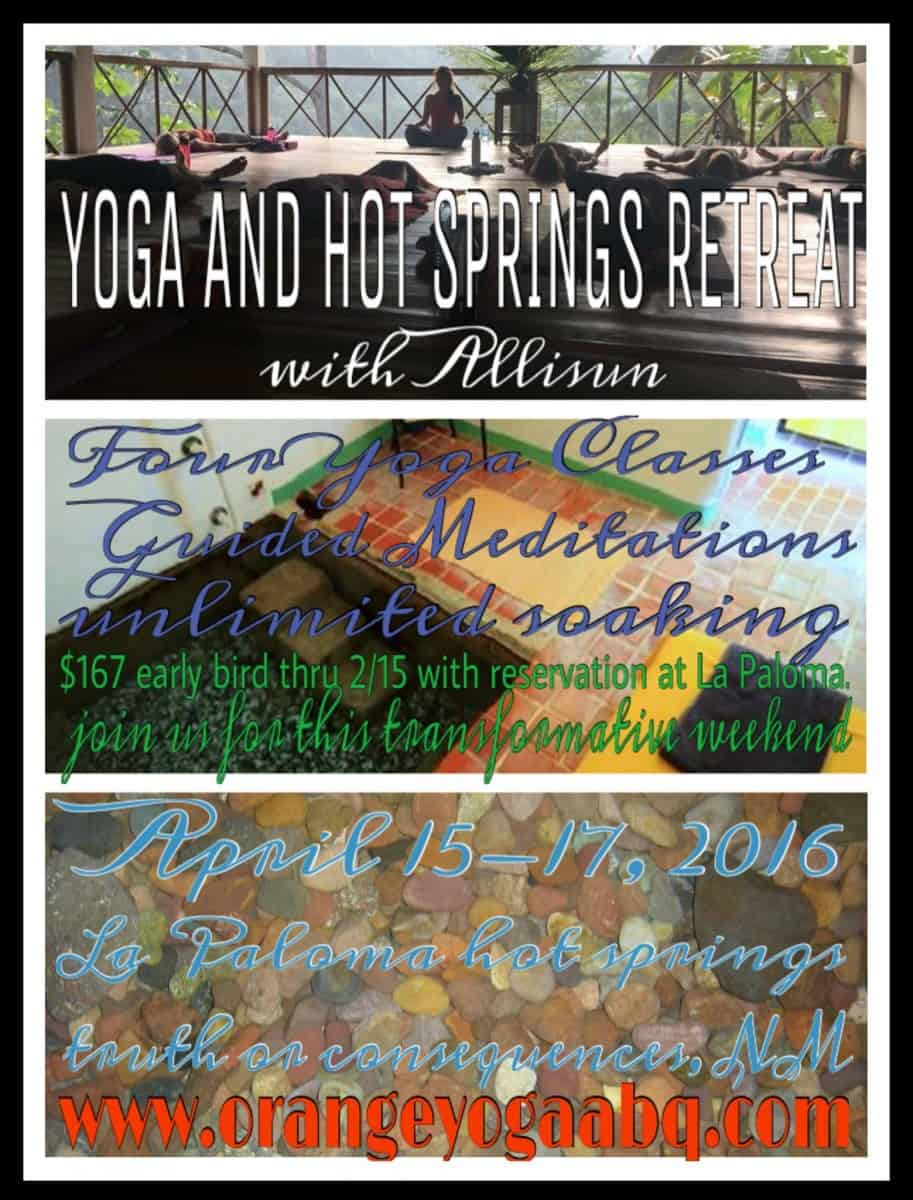 Yoga and Hot Springs Retreat with Allisun