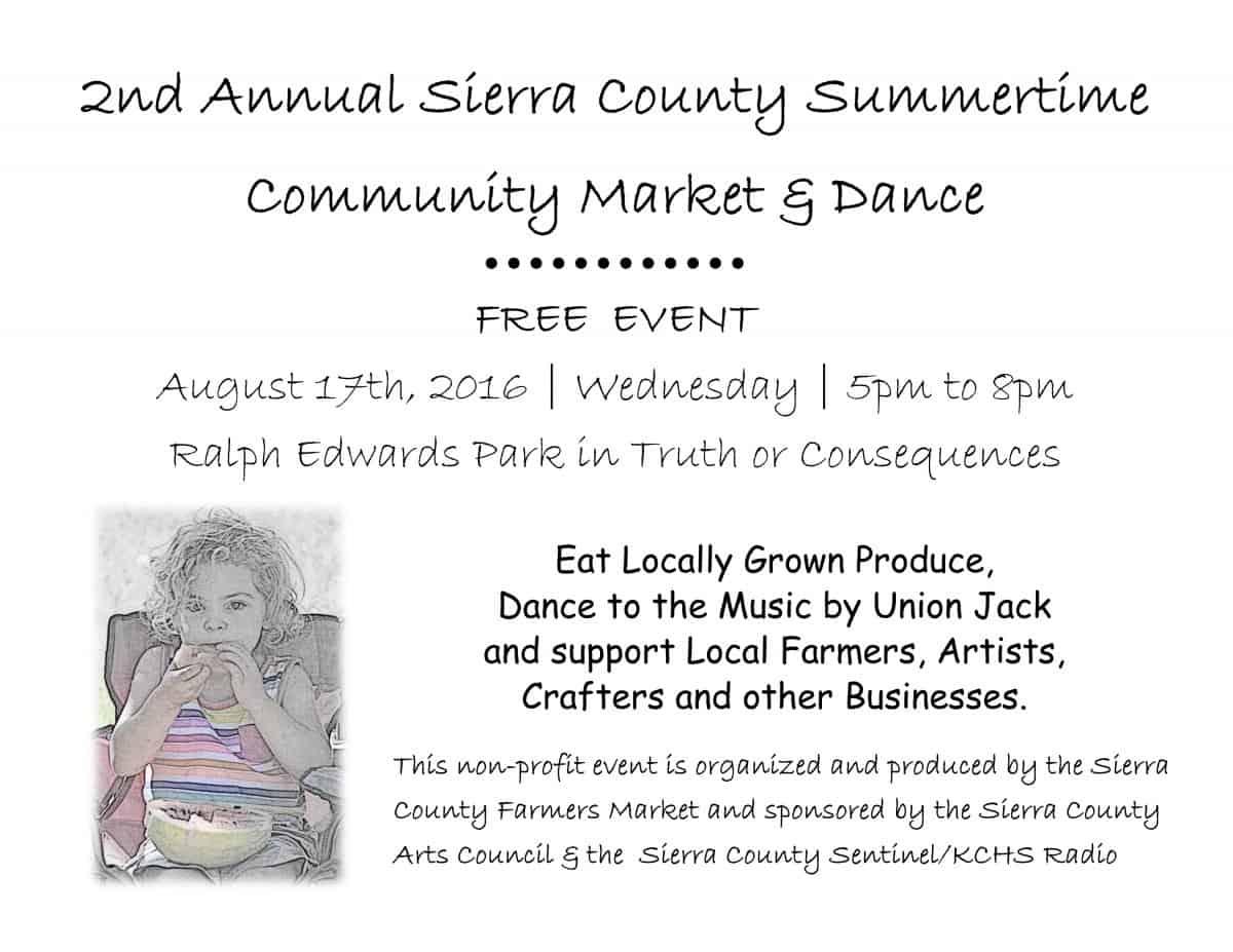 2nd Annual Summertime Community Market & Dance