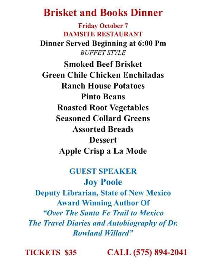 Brisket and Books - Book Fair Dinner
