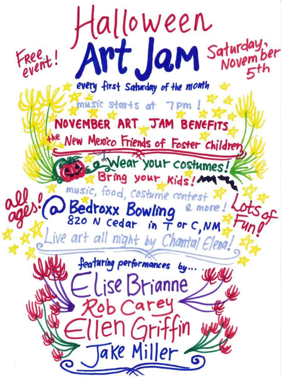 Halloween Art Jam! Live Music