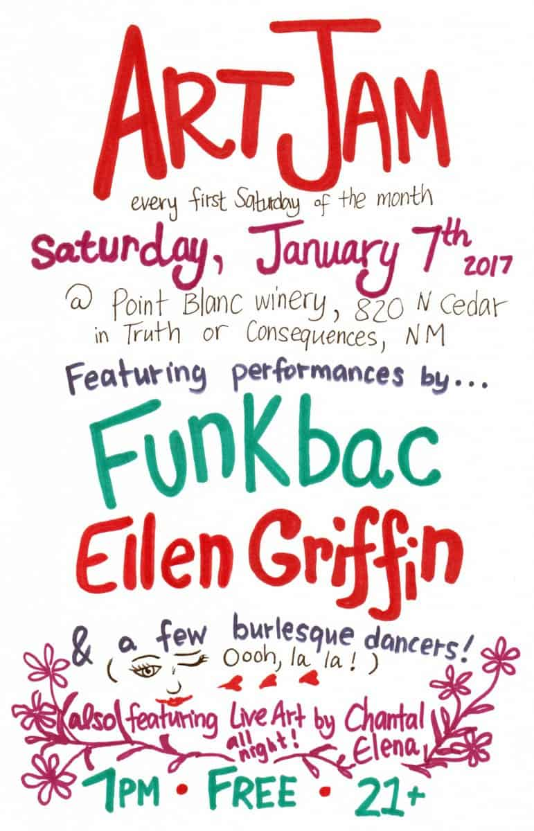 Art Jam! Live Art & Music! Feat. Funkbac, Ellen Griffin