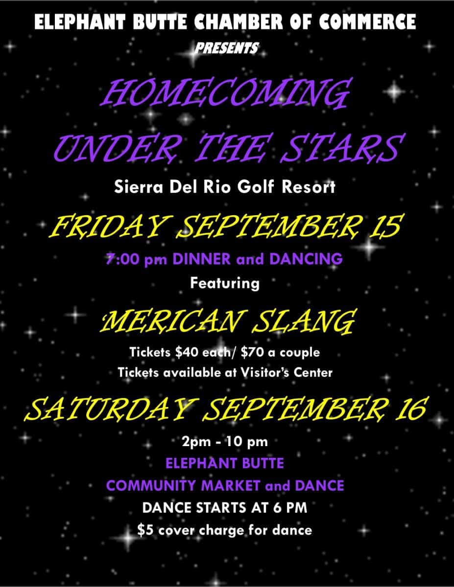 Elephant Butte Chamber of Commerce Homecoming Under the Stars