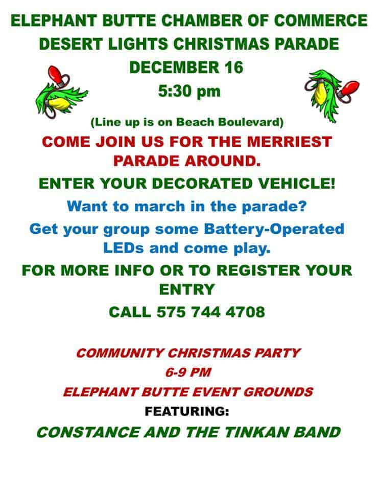Elephant Butte Desert Lights Christmas Parade & Party
