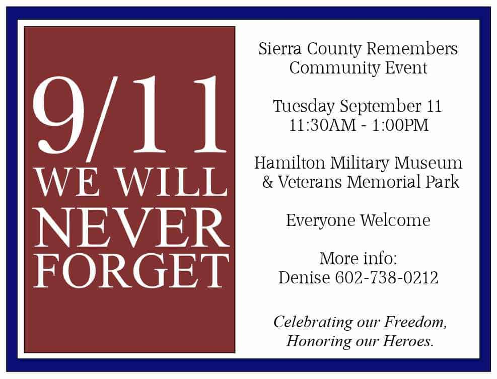9/11 event - Sierra County Remembers