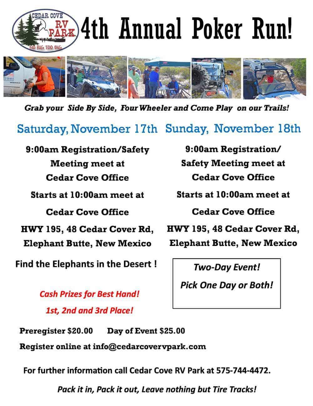 4th Annual Cedar Cove ATV Poker Run