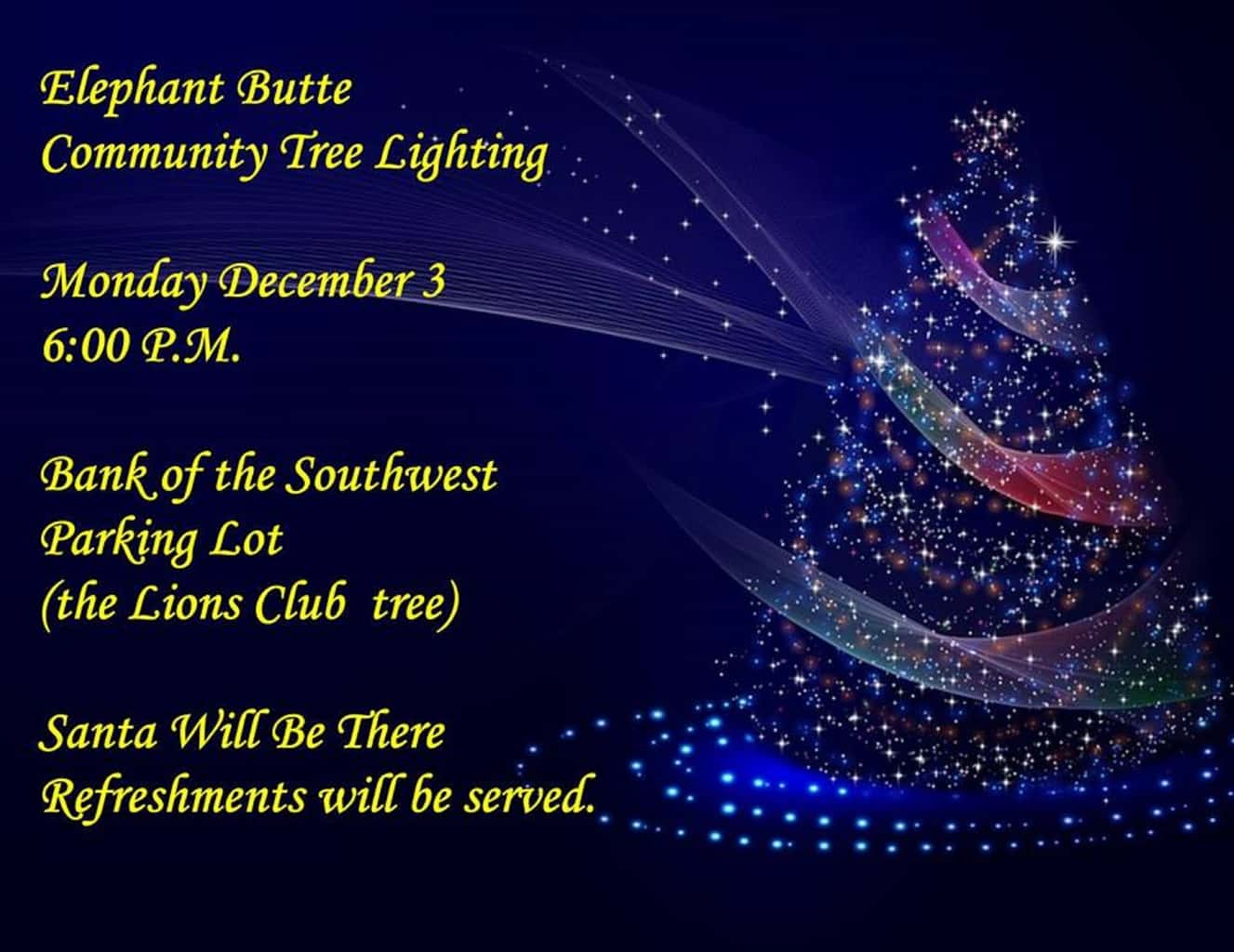 Elephant Butte Community Tree Lighting Party