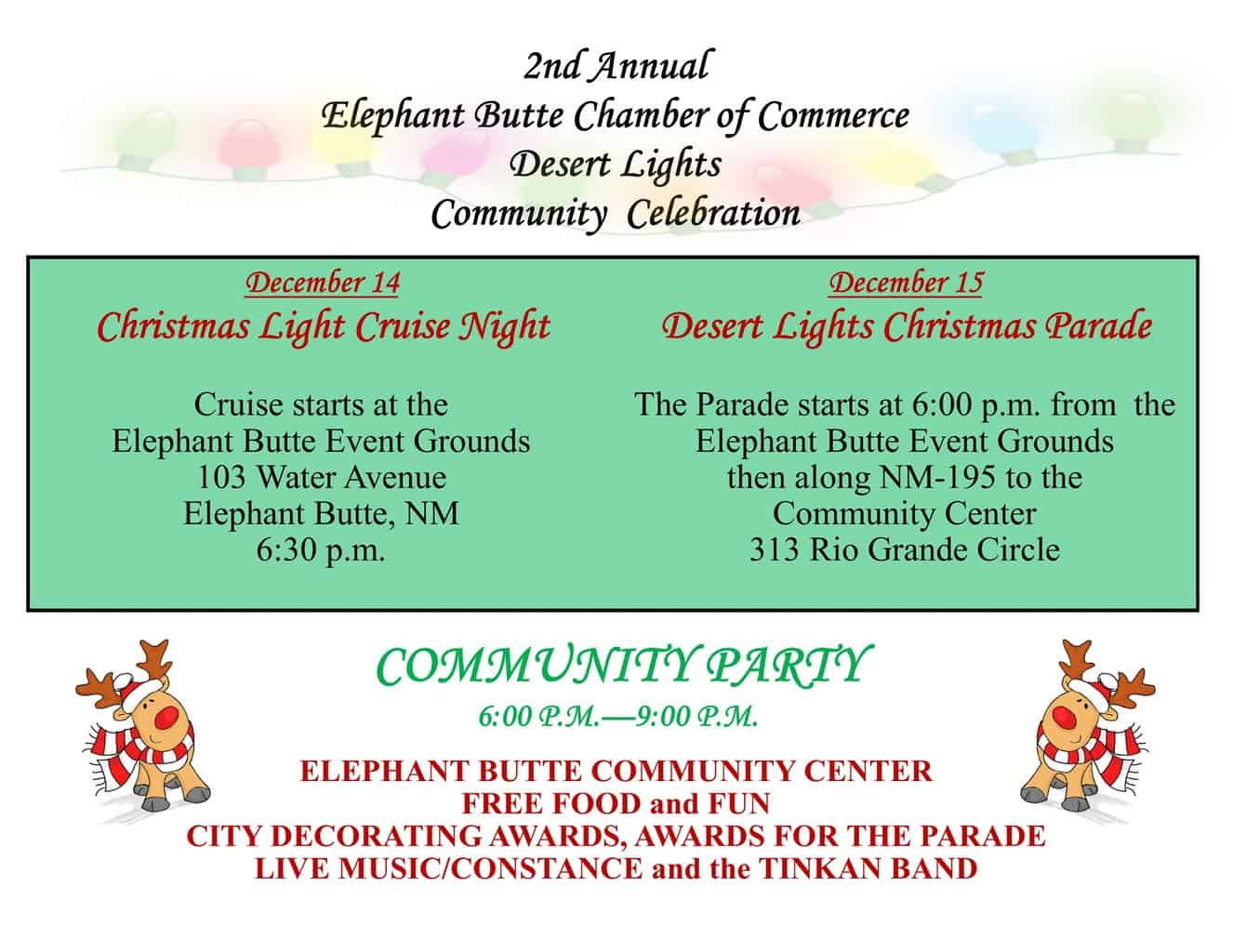 Desert Lights Community Celebration