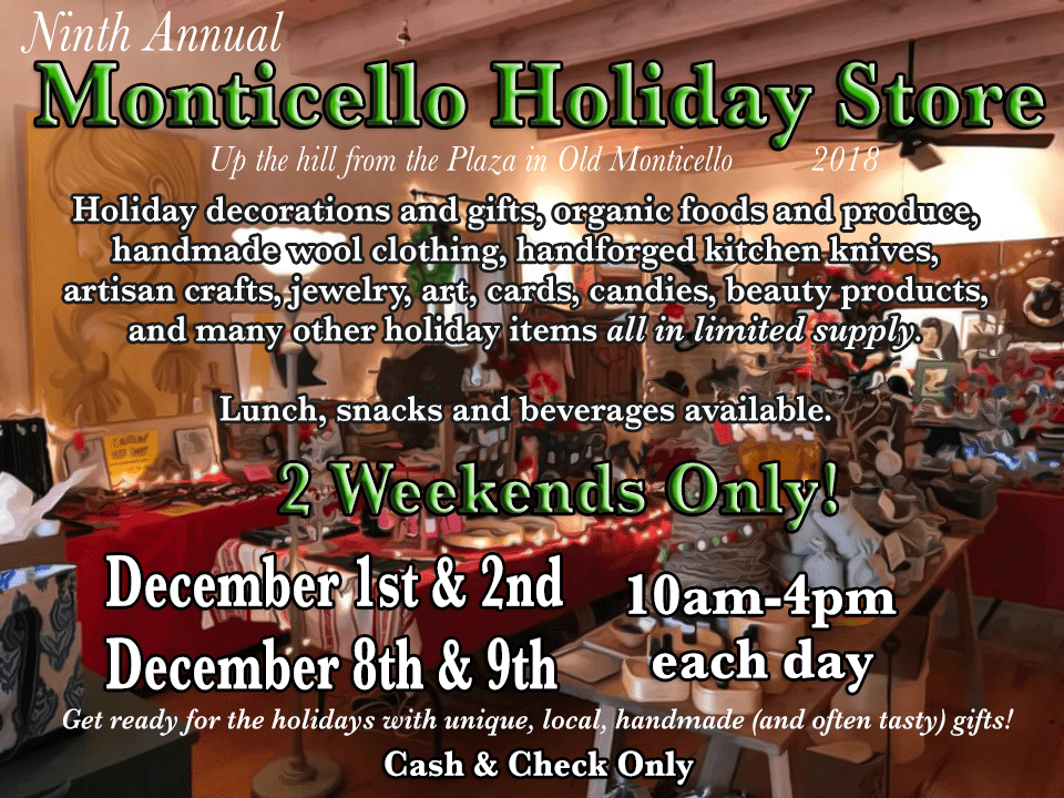 Monticello Holiday Store 2018