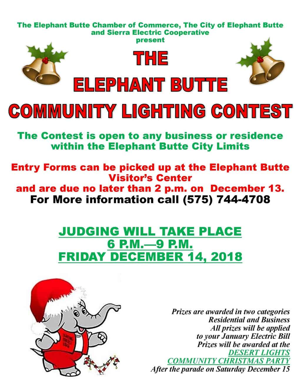 Elephant Butte Community Lighting Contest and Cruise Night