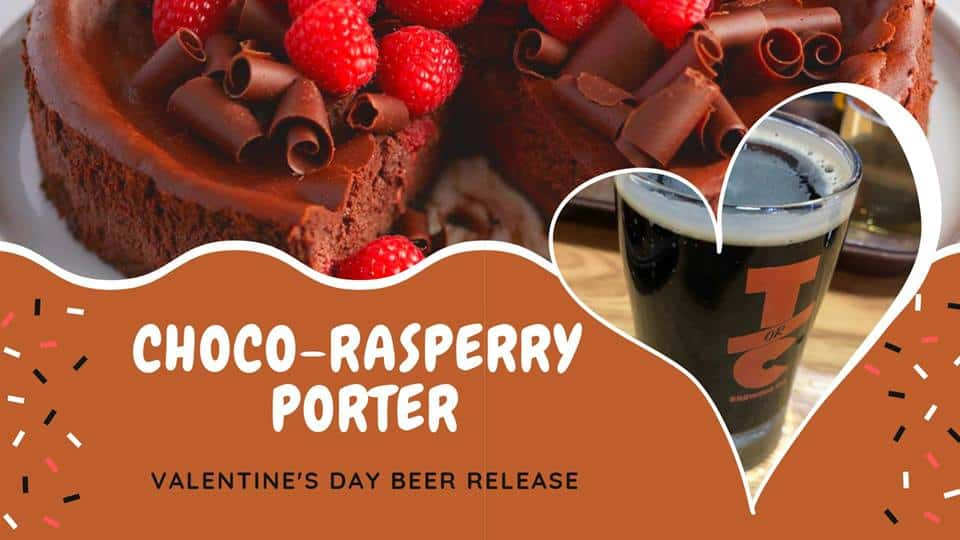 Choco-Raspberry Porter V-Day Beer Release