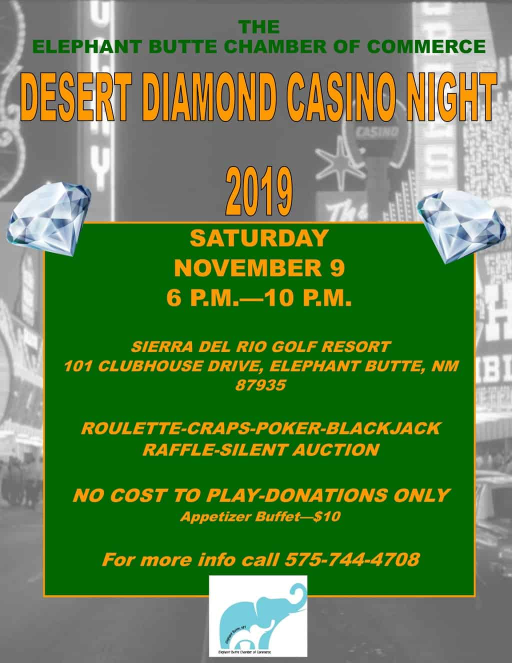 2019 Annual Elephant Butte Chamber of Commerce Casino Night