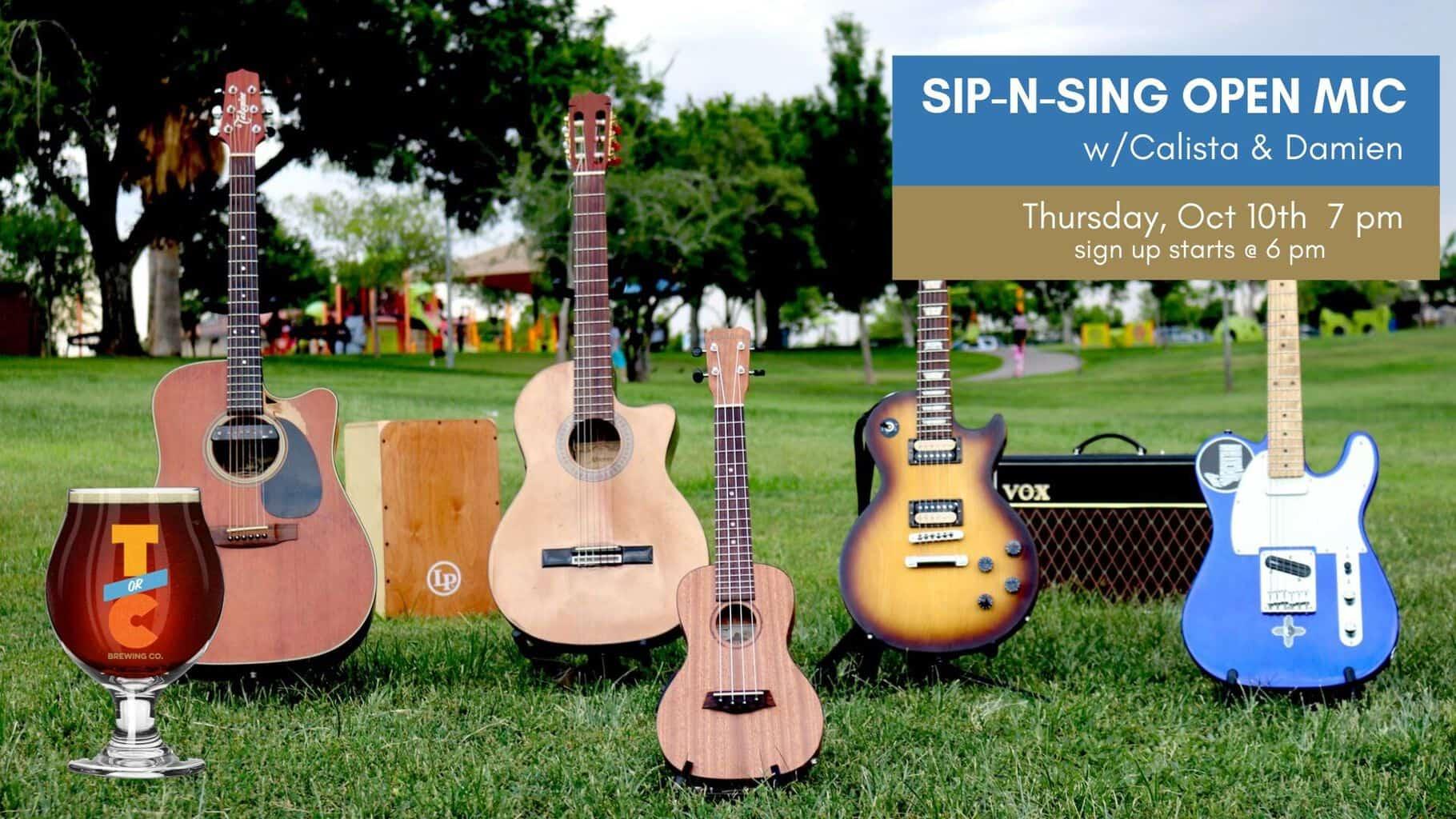 Sip-n-Sing Open Mic