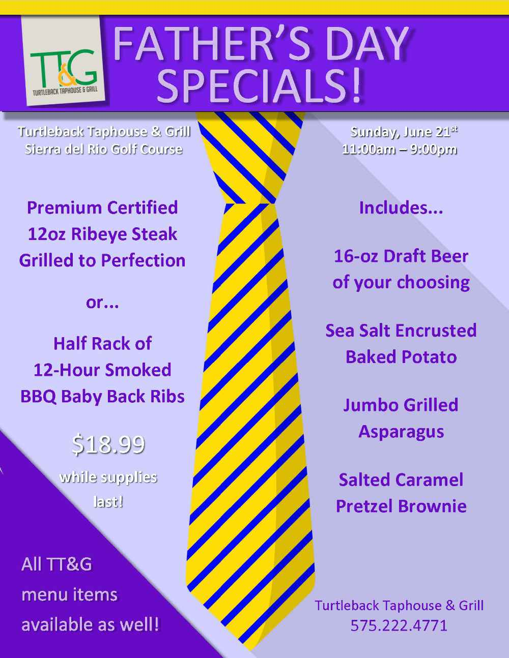 Father's Day at Sierra del Rio's Turtleback Taphouse & Grill