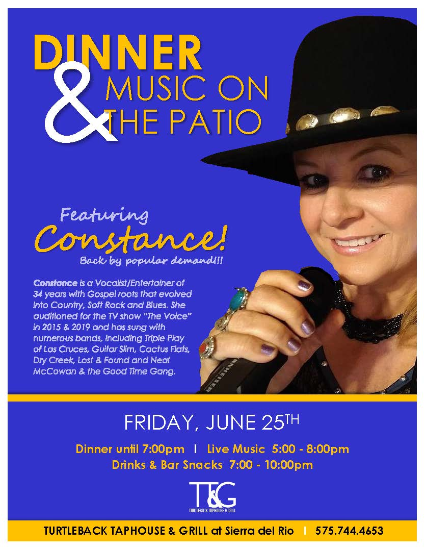 DINNER & MUSIC ON THE PATIO at Sierra del Rio
