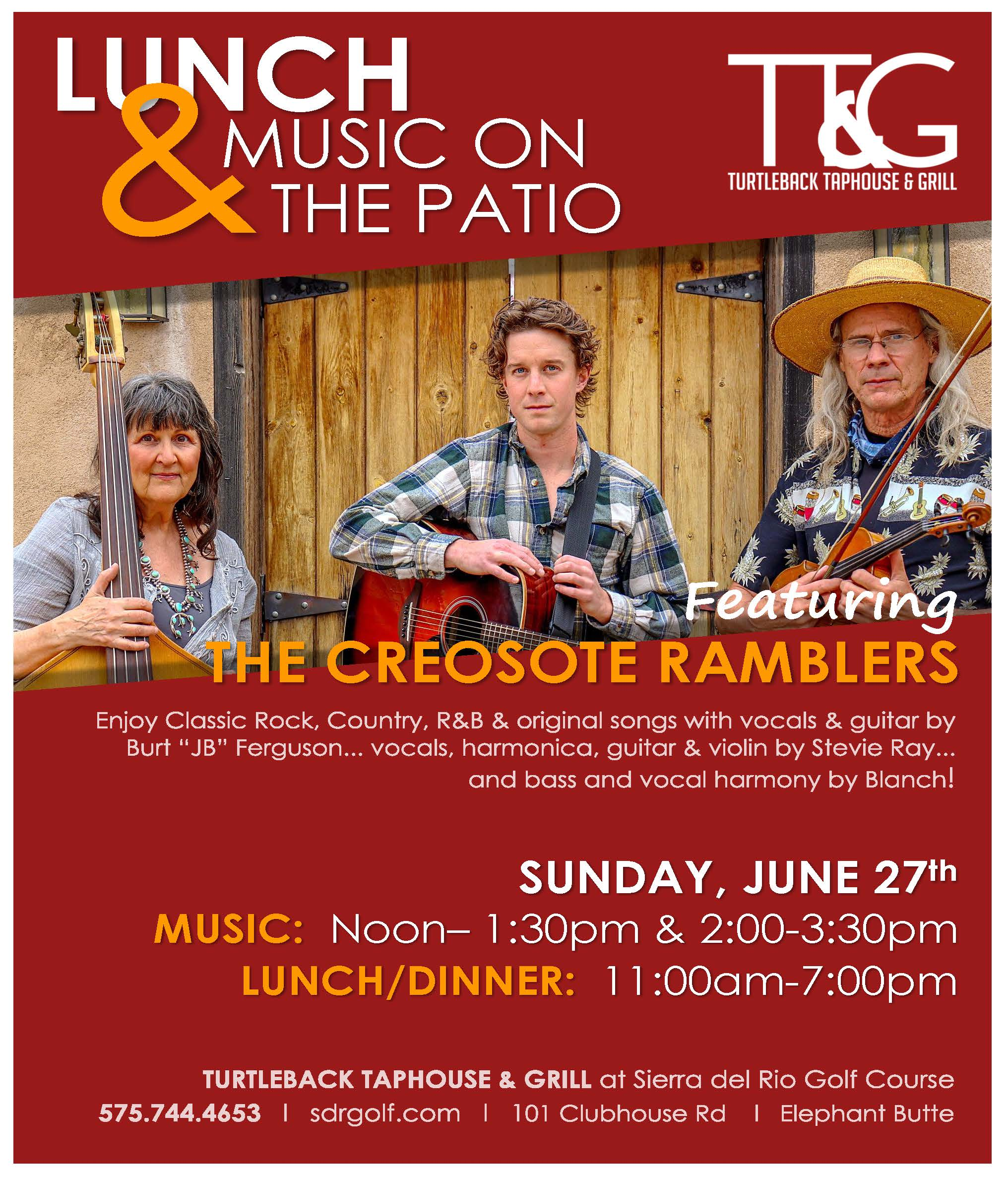LUNCH & MUSIC ON THE PATIO at Sierra del Rio