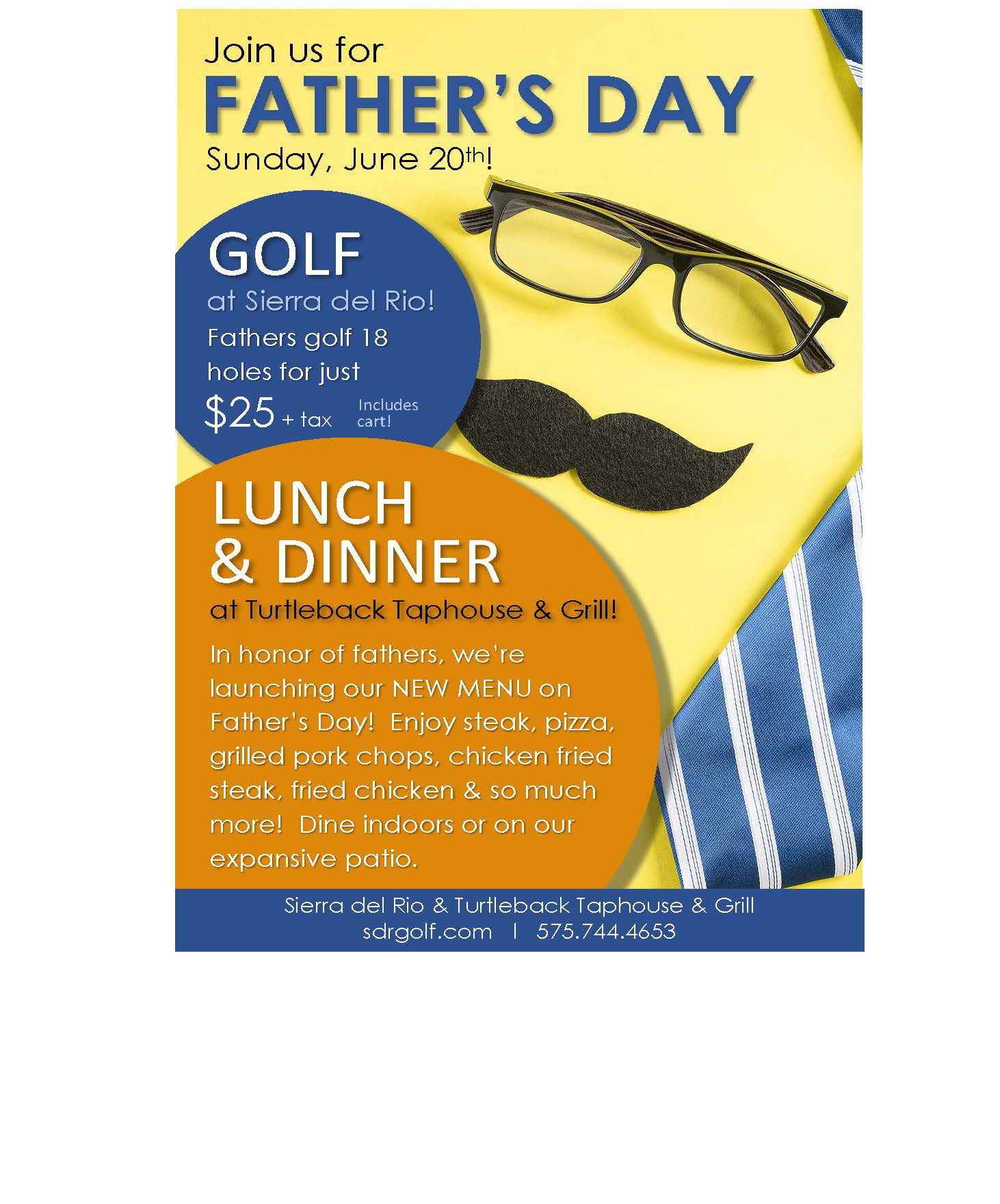 FATHER'S DAY - GOLF & DINING at Sierra del Rio